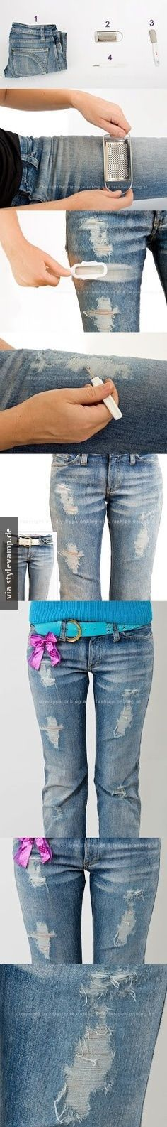 Do it Yourself: Used Jeans ganz einfach.