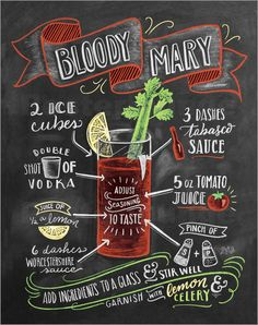 Poster Bloody Mary Rezept