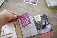 Studio Calico tutorial on digital/hybrid transparencies. Project Life Scrapbook, Project Life Layouts, Scrapbook Journal, Mini Scrapbook Albums, Journal Cards, Mini Albums, Filofax, Book Projects, Craft Projects