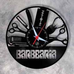 e645437607b Barbearia Barbeiro 04 - Relógio Em Disco De Vinil Decoração - R  28