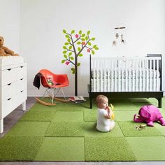 Floor covering for a child's room - http://www.decorationtrend.com/kids-room/floor-covering-for-a-childs-room/