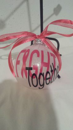 Fight Together  Cancer Awareness  Breast by BeaDazzledandBeyond