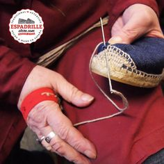 espadrille - sewing the canvas
