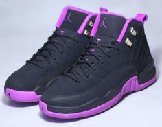 9c4892a6147c Photos and release date for the Air Jordan 12 GS Hyper Violet colorway ( Black Metallic Gold Star-Hyper Violet