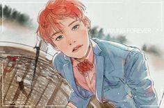 V ❤ Young forever Art #BTS #방탄소년단