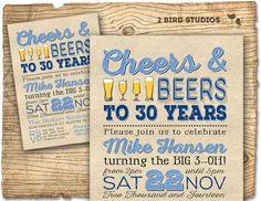 30th Birthday Invitation Surprise Party 30th von 2birdstudios
