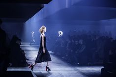 Naomi Campbell at DVF runway show during New york fashion week.