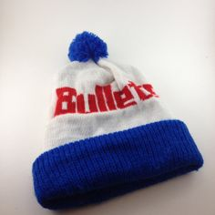23eb7416149 Washington Bullets pom pom Hat Beanie 80s true by TheWabiSabi