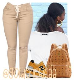 """""""Casual"""" by g0ldenchicaa ❤ liked on Polyvore featuring New Look, New Balance and MCM"""
