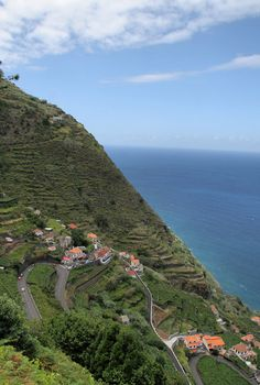 "The road to Porto Moniz on Madeira Island, Portugal - photo by isa (Isabel Abreu) on TrekEarth;  ""Leaving Porto Moniz on the road leading up to Paúl da Serra, a 5,250 foot plateau, you will be rewarded with spectacular scenery.""  ...More information: www.madeira-web.com"
