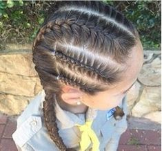 75 Easy Braids for Kids (with Tutorial) Haarzöpfe Half Braided Hairstyles, Lil Girl Hairstyles, Bun Hairstyles For Long Hair, Braids For Long Hair, Childrens Hairstyles, Braids Easy, Tight Braids, Toddler Hairstyles, Hairstyles 2016