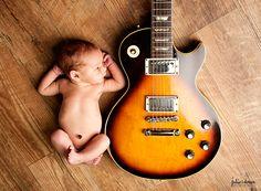 newborn and guitar photography | Strings and Heartstrings {Cincinnati Professional Newborn Photography}