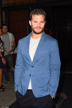 Busy bee! Jamie has been kept busy filming the hotly-anticipated Fifty Shades Darker and shades freed and has been in New York promoting his latest movie, Anthropoid