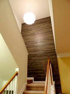 #Vinyl flooring is not just for floors. Create an interesting, easy to clean wall