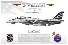 F-14A-VF-154    Manufacturer: Grumman  Model: F-14A Tomcat  Tail Code: NF/105  c/n: BuNo.161271 LANTRIN TARPS    UNITED STATES NAVY    FIGHTER SQUADRON ONE FIVE FOUR  VF-154 Black Knights   LAST CRUISE 2003  USS KITTY HAWK (CV-63)/ CVW-5