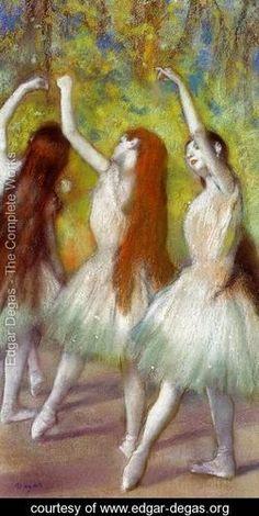Dancers in Green   1 - Edgar Degas - www.edgar-degas.org