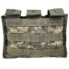 New | Army & Outdoors  USGI MOLLE II M4 Triple Pouch Any Army Combat Uniform (ACU)... Army Combat Uniform, M65 Jacket, Waterproof Poncho, Tree Patterns, British Army, Military Fashion, Us Army, Cold Weather