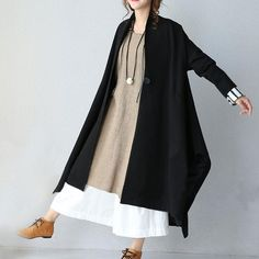 Black Stitching Loose Casual Jacket