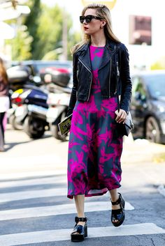 12 Ways to Instantly Make Your Outfit More Interesting via @WhoWhatWear - Make a Splash in a Printed Midi