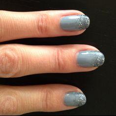 Faded Glitter mani... Nail Polish:Essie - Cocktail Bling, Sally Hansen - Glitz Gal