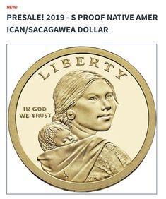 2019 S Native American Sacagawea Proof ~ Mint Proof from Proof Set ~ Deep Cameo