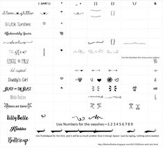 Glyphs are extra characters in fonts. For fonts like Samantha (a paid font - there is no free version) you have to use a character map to ...