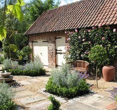 Courtyard garden in York,