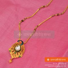 Explore the trendy collection of gold necklace set at Waman Hari Pethe Sons. Gold Mangalsutra Designs, Gold Earrings Designs, Gold Chain Design, Gold Jewellery Design, Gold Jewelry Simple, Antique Necklace, Special Occasion, Stylish, Gold Necklaces