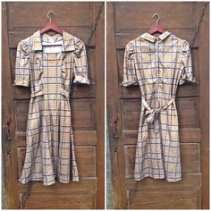 Vintage 50's/ 60's Handmade Plaid Print by FossilizedFeather