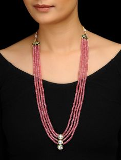 Jaypore is about bringing the world a little closer together. We discover the best designs from artisans and craftsmen from all over India, and deliver them at exceptional value to our members. Diy Jewelry Necklace, Beaded Choker Necklace, Bead Jewellery, Fashion Jewelry Necklaces, Necklace Online, Bar Necklace, Gemstone Necklace, Necklace Designs, Silver Necklaces