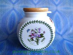 Portmeirion Cookie Jar With Wooden Lid In Botanic Garden Design - BG106