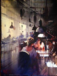 The Escoda Factory by Alvaro Castagnet :) #watercolor #fanart