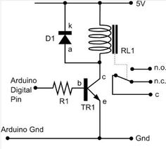 From the MAKE Flickr pool After fielding a few questions about connecting relays to an Arduino, Anachrocomputer drew up this basic schematic for proper wir