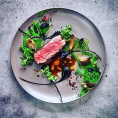 | Lamb Ramp  Ramson  Black Garlic  Onion | By @vladelo by gourmetzfood Modern Food, Pickled Onions, Culinary Arts, Food Art, Food Styling, Food Photography, Black Garlic, Michelin Star Food, Food Plating