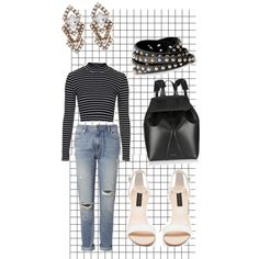 A fashion look from November 2014 featuring Topshop tops, Whistles jeans and Forever New sandals. Browse and shop related looks.