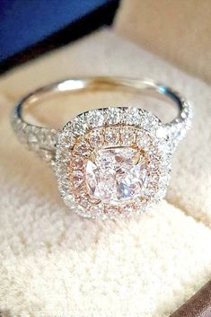 Brilliant Cushion Cut Engagement Rings See more: #weddings #weddingring