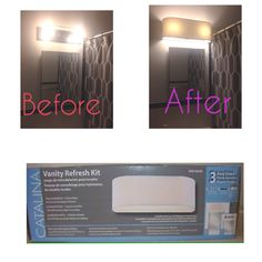Loews Hollywood Vanity Light Refresh Kit : Bathroom on Pinterest Shelves Over Toilet, Bathroom Makeovers and Hollywood