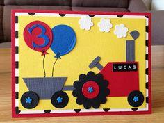 Randis hobbyverden: Punch art bursdagskort til mitt barnebarn