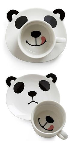 Pandas, OMG, awesome and totally cute Panda Love, Cute Panda, Happy Panda, Gadgets, Panda Party, Cute Cups, Cool Mugs, Kitsch, Cute Animals
