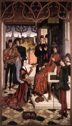 Дирк Боутс (Dirk Bouts) - Испытание огнем графини перед Оттоном III (1468-75, Брюссель, Королевский музей изящных искусств)