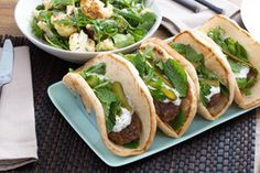 Lamb Gyros with Roasted Cauliflower Salad & Cucumber-Yogurt Sauce