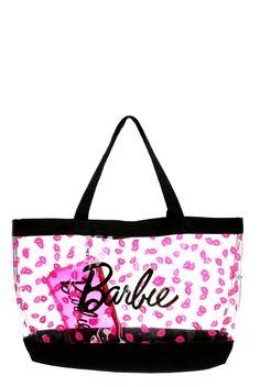 Barbie Pink Glitter Lips Beach Tote   Hot Topic