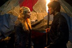 "#The100 1x06 ""His Sister's Keeper"" - Clarke and Bellamy"