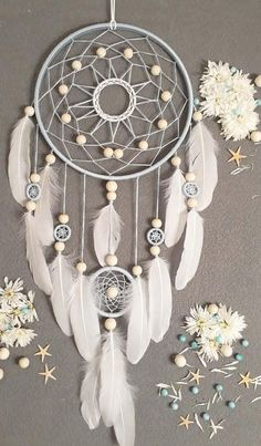 ==== ITEM DETAILS ==== ★SIZE Dream catcher★ - diameter large ring: 10 ......... ( 26 cm ) height:~~~~~~~~~~~~~~~~ 26 ......... ( 65 cm ) ★MATERIAL dream catcher★ - cotton thread - beads - white feathers - wooden frame ~~~~~~~~~~~~~~~~~~~~~~~~~~~~~~~~~~~~~~~~~~~ This Dream
