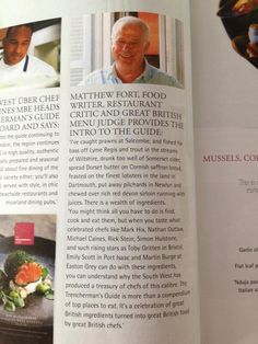 Wow a lovely mention for me by Matthew Fort an intro to the @Trenchermans @food_mag #risingstar