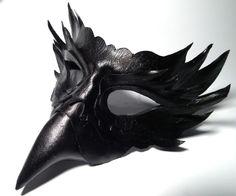 Raven Leather mask by Shadows-Ink.deviantart.com on @deviantART