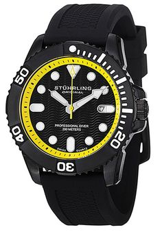 Price:$130.67 #watches Stuhrling Original 328R.335665, The Atlantis is a durable diver's watch with 200 meters water resistance and a rotating bezel. Great for tough outdoor use or every day wear.