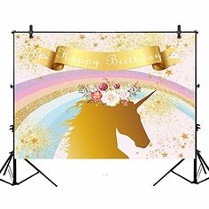 Baby Shower Backdrop 8x6ft Cartoon Moon Polyester Photography Background Blue Sky Cute Golden Stars Funny Design Sparkle White Heart Shape Birthday Party Portraits Shoot Prop Banner Decor