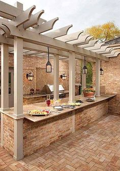 outside of outdoor kitchen..facing diamond