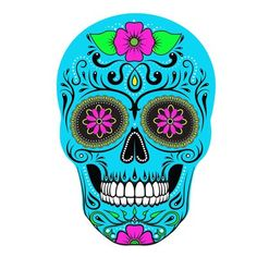 Embellish your outdoor space in strking fashion with the NFL Large Skull Outdoor Decal. Perfect for displaying your pro football team pride, this attention-grabbing skull graphic decal showcases the colors and logos of your favorite gridiron team. Sugar Skull Painting, Sugar Skull Artwork, Sugar Skulls, Mexican Halloween, Day Of The Dead Artwork, Crane, Colorful Skulls, Skull Wallpaper, Piercings